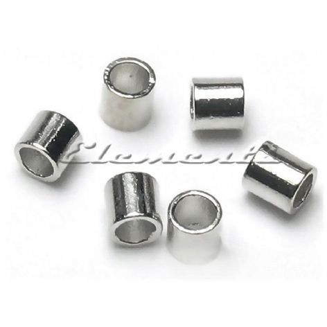 2mm X 2mm Sterling Silver Tube Crimp Beads